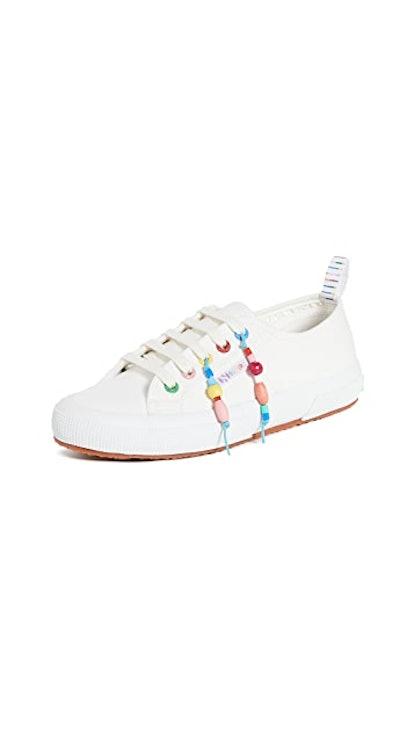 Beaded Fringe Sneakers