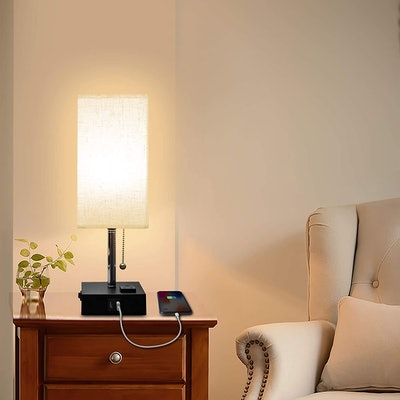 Cotanic USB Bedside Table