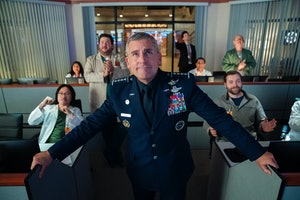 Steve Carell in 'Space Force,' premiering on Netflix May 29.