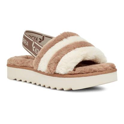 Koolaburra UGG Fuzz's Women's Faux-Fur Slipper Sandals