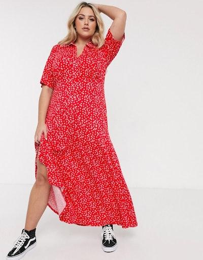 ASOS Curve Short sleeve Shirt Maxi Dress