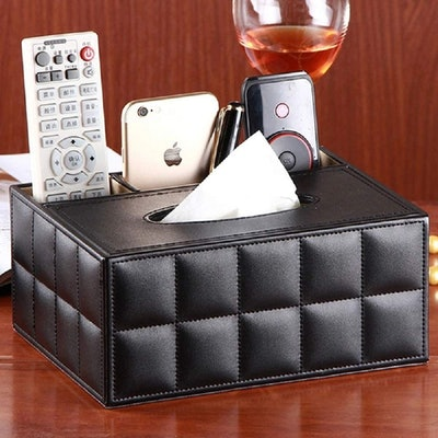 Eonyea Rectangular Tissue Box Cover with Storage