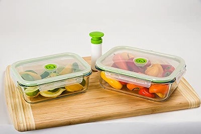 Lasting Freshness Vacuum Seal Food Storage Containers (Set of 2)
