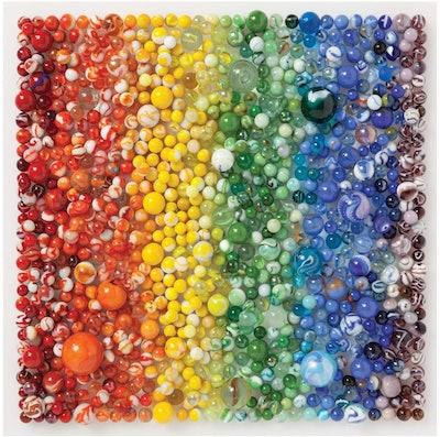 Galison Rainbow Marbles Puzzle