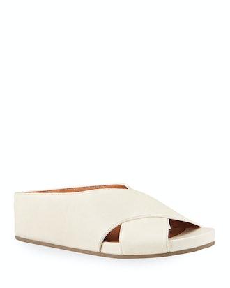 Gisele Crisscross Slide Sandals