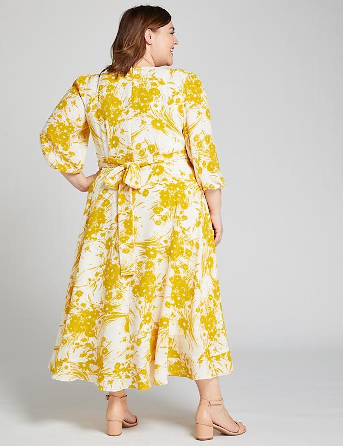 Lane Bryant Floral Crossover Midi Dress