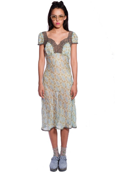Anna Sui Rosine Rose Lace Dress