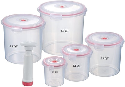 Lasting Freshness Vacuum Seal Food Storage Containers (Set of 5)