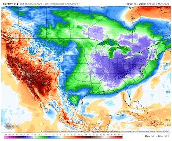 map of 2020 polar vortex
