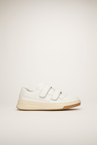 Velcro-strap sneakers white
