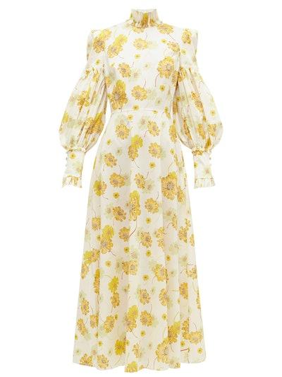 The Dhalia Liberty-print cotton-poplin dress