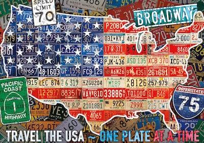 Buffalo Games Travel The USA Jigsaw Puzzle