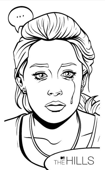 MTV and VH1's digital coloring pages feature iconic reality TV scenes.