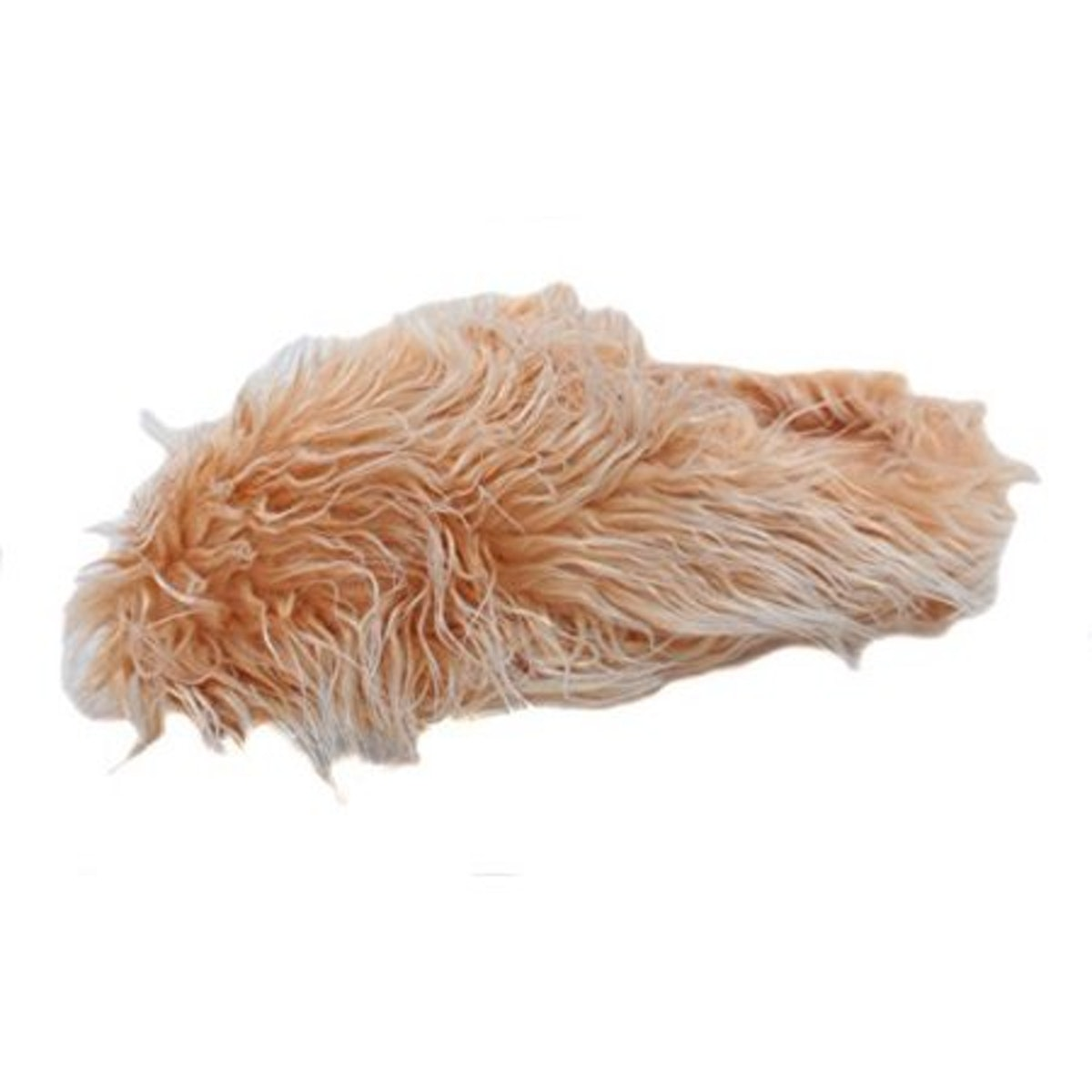 Making Waves Women's Brown Super Hairy Fuzzy Slippers