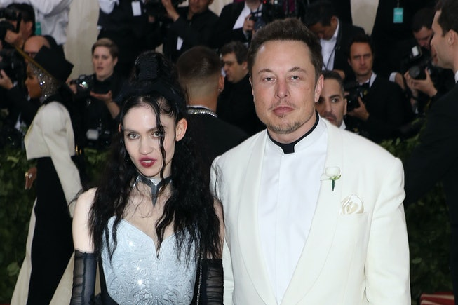 """Grimes and Elon Musk attend """"Heavenly Bodies: Fashion & the Catholic Imagination"""", the 2018 Costume Institute Benefit at Metropolitan Museum of Art on May 7, 2018 in New York City."""