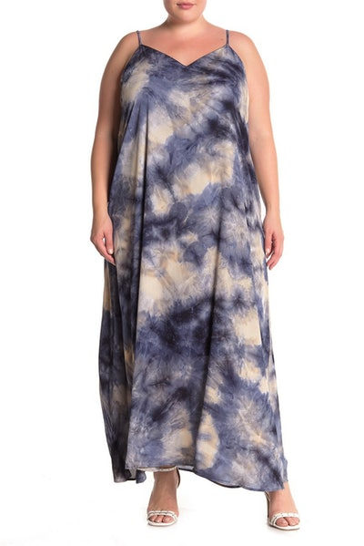 West Kei V-Neck Tie-Dye Shift Maxi Dress