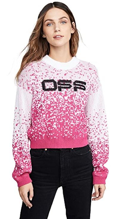 Degrade Logo Knit Sweater