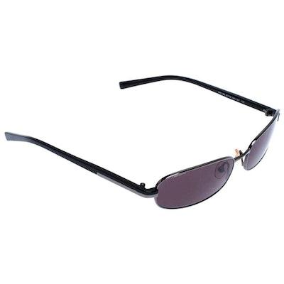 Prada Gunmetal Tone eSPR 56E Rectangular Sunglasses