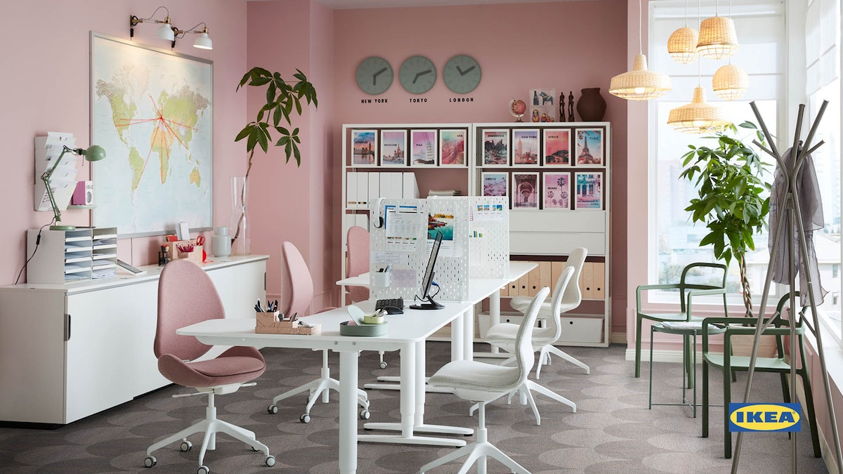 These IKEA backgrounds from Zoom include a chic office space.