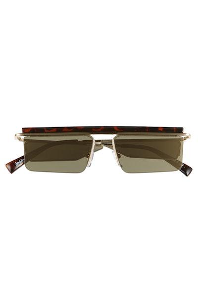 Adam Selman x Le Specs Luxe The Flex 55mm Semi Rimless Sunglasses