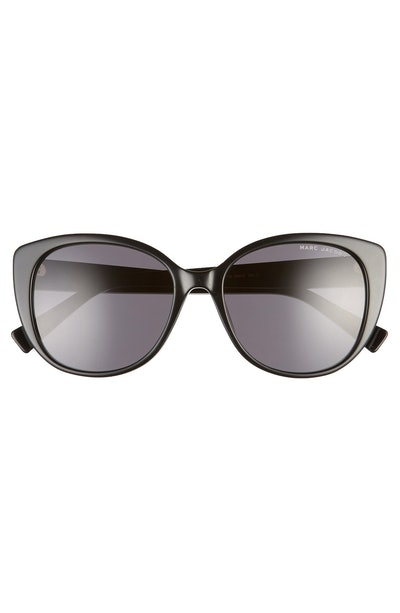 54mm Rounded Cat Eye Sunglasses