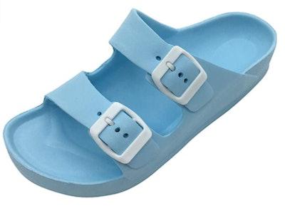 LUFFYMOMO Slip-On Buckle Sandals