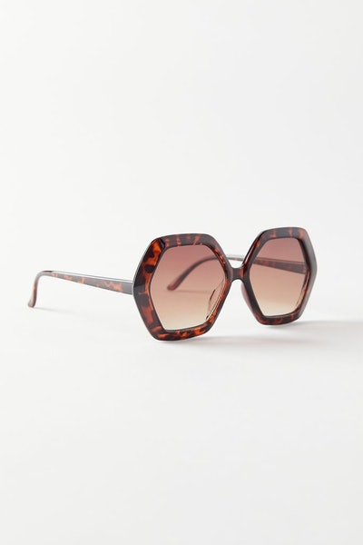 Urban Outfitters Clementine Oversized Hexagon Sunglasses