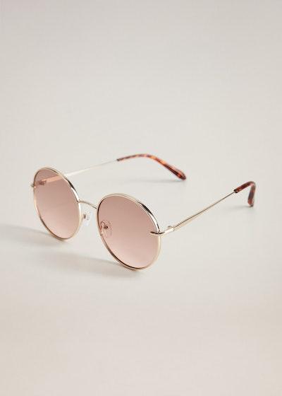 Mango Copper Rounded Sunglasses