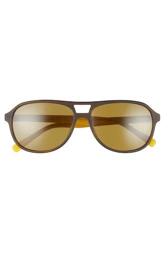 Air Heart 56mm Polarized Aviator Sunglasses