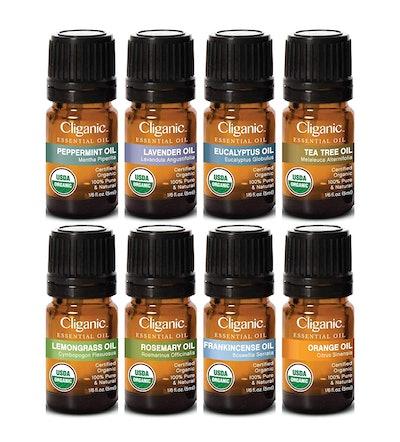 Cliganic USDA Organic Essential Oils (Set of 8)