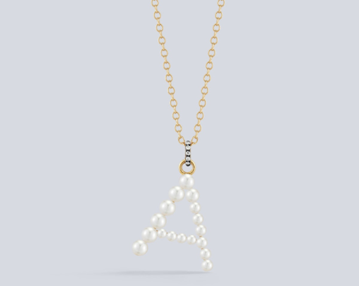Prive Pearl Letter Necklace