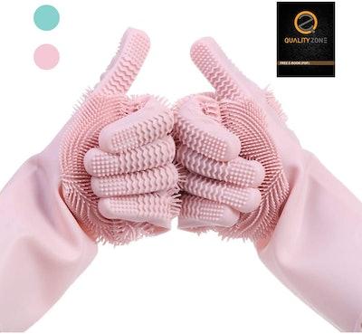 Premium Magic Silicone Dishwashing Gloves