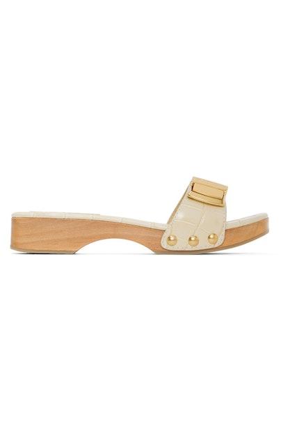 Beige Croc Les Tatanes Sandals