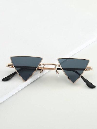 Shein Metal Frame Triangle Lens Sunglasses