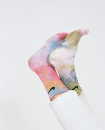Tie-Dyed Nike Performance Cushion Socks