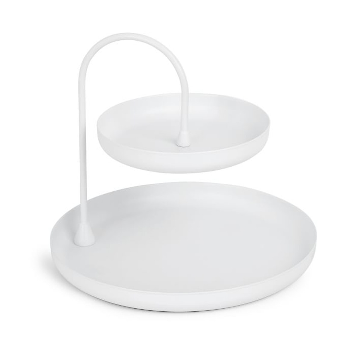 Poise Two Tiered Tray, White