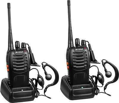 Arcshell Rechargeable Long Range Two-Way Radios (2-Pack)