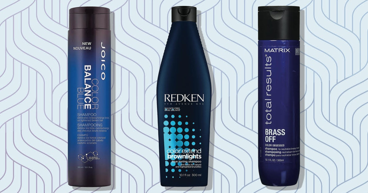 Calling All Brunettes! These Blue Shampoos Are The Key To Toning Down Brassiness In Your Hair