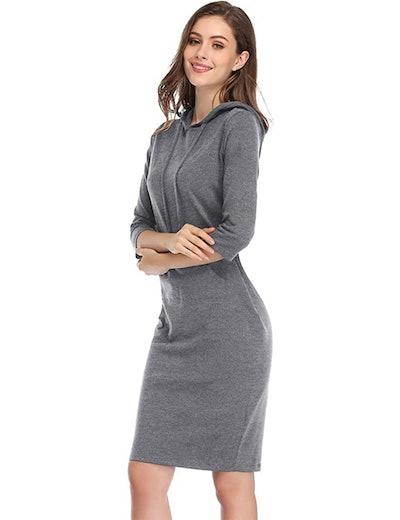 MISSKY Pullover Hoodie Dress