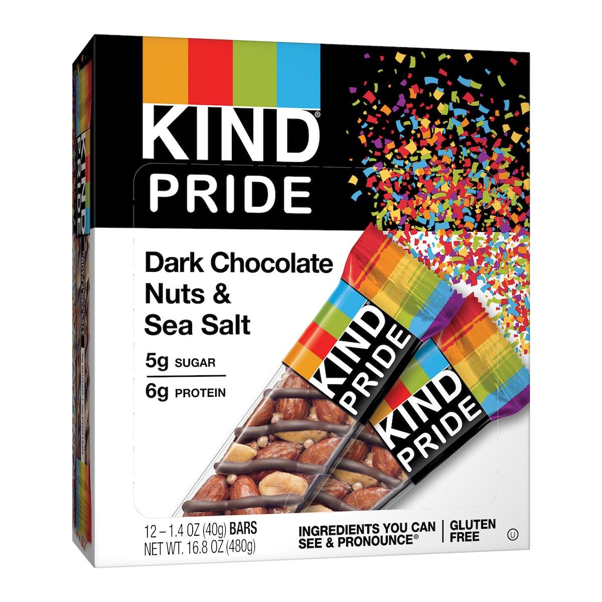 KIND PRIDE Dark Chocolate Nuts & Sea Salt