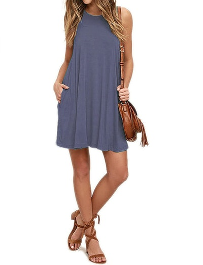AUSELILY Sleeveless Swing Dress
