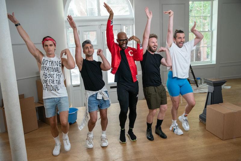The cast of Queer Eye: Antoni Porowski, Tan France, Karamo Brown, Bobby Berk, and Jonathan Van Ness.