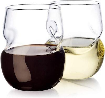 Dragon Glassware Wine Glasses (2-Pack, 16 Ounces)