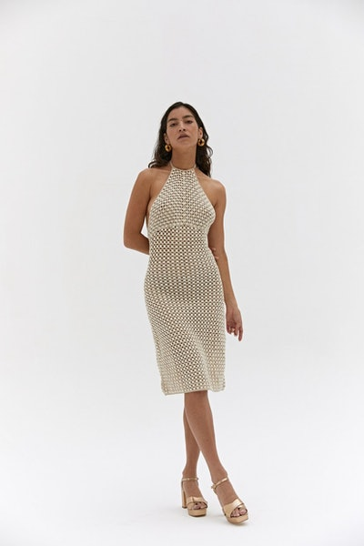 Mara Backless Crochet Dress