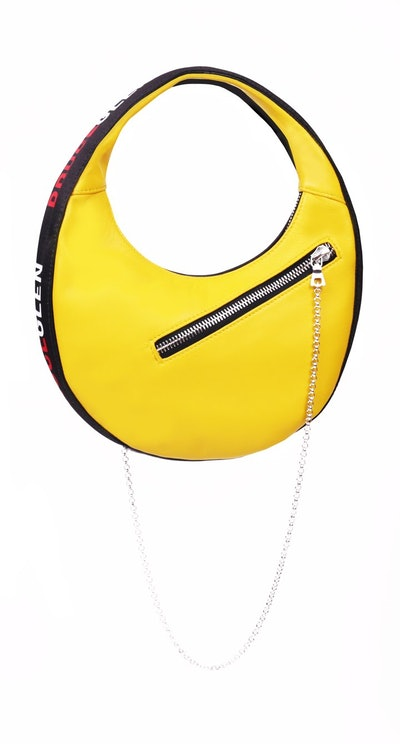 'Logo' Mini Egg Bag in Yellow