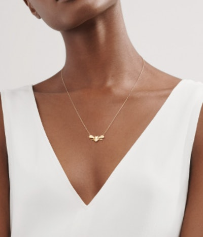 Bee Pendant in 18k Gold and Sterling Silver