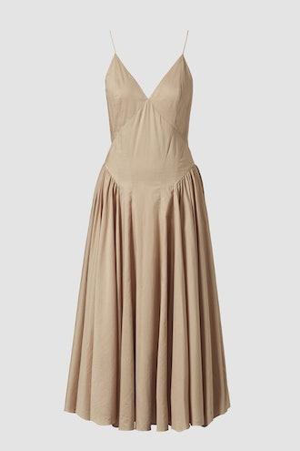 Solene Organic Cotton Midi Slip Dress