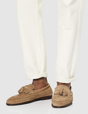 find. Men's Woven Leather Loafer