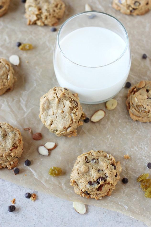 flourless peanut butter trail mix cookies