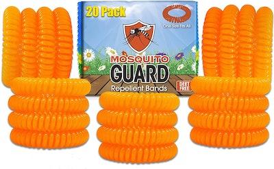 Mosquito Guard Kids Repellent Bracelets (20-Pack)